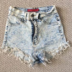 GJG Denim high waisted shorts